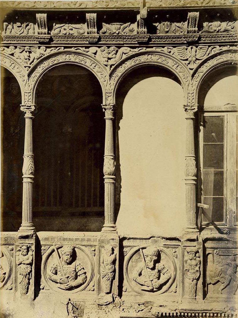 Patio de la casa conocida con el nombre de los infantes, Zaragoza, 1860