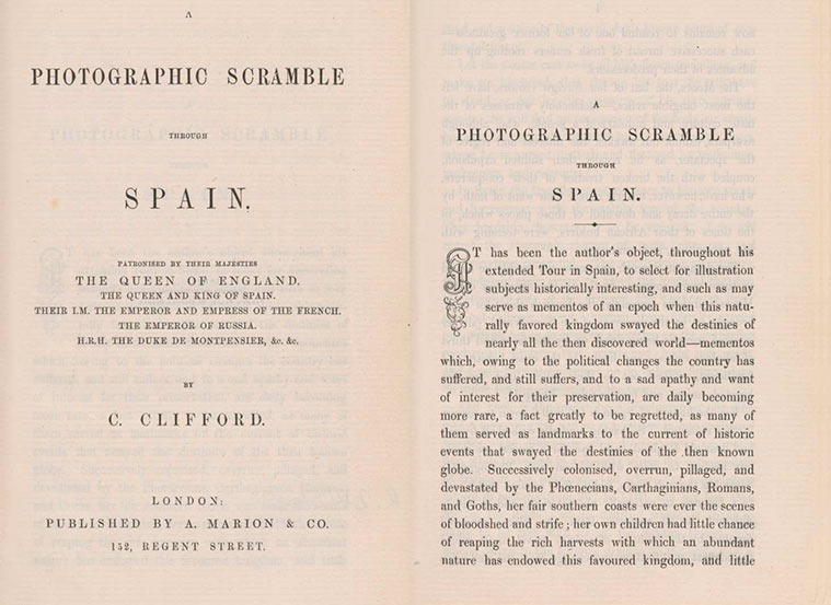A photographic scramble through Spain, 1862. Charles Clifford (Foto: Royal Collection Trust)