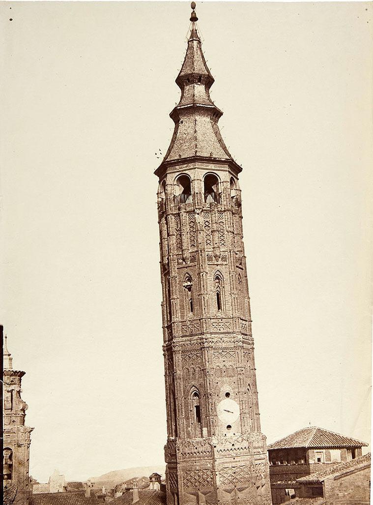 La Torre Nueva, Zaragoza, 1860. Charles Clifford