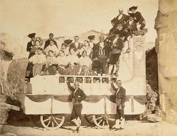 carro adornado zaragoza aldeaas y labradores