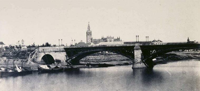 Sevilla. Puente de Hierro, 1854. Álbum Andalucía9, BNE; Madrid