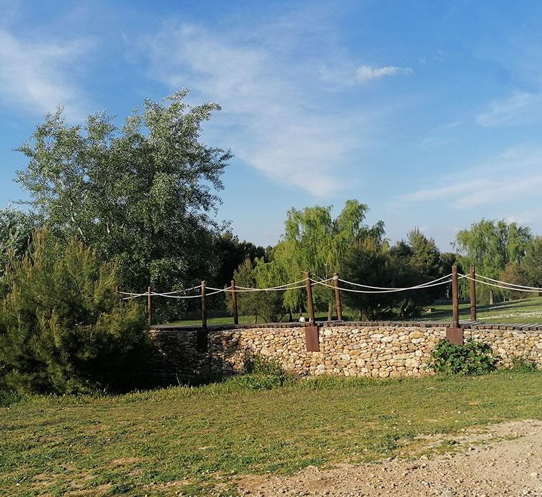 restos de cauces de acquias en el parque del barranco