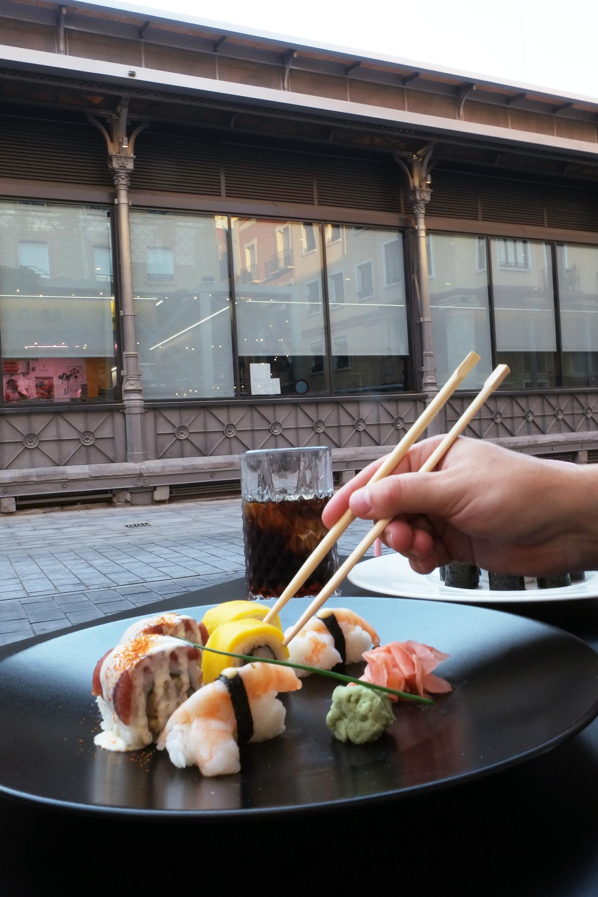 Sushi en el Rombo Zentral del Mercado Central