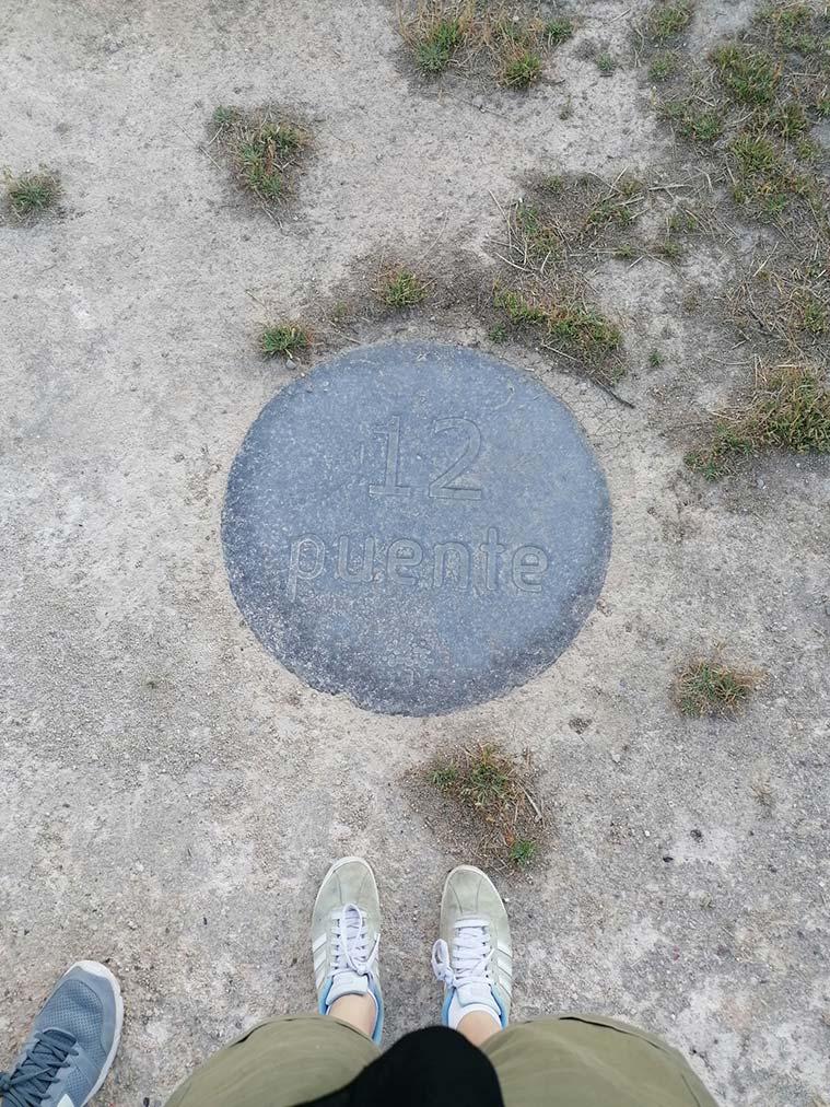 Orden numérico del Jardín de Rocas de La Alfranca