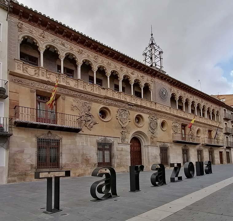 Fachada renacentista del Ayuntamiento de Tarazona