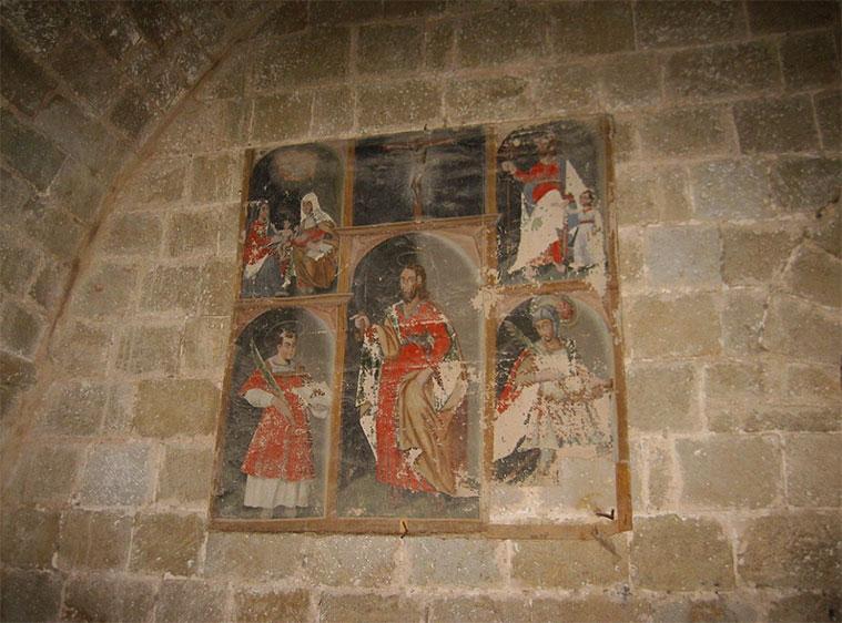 pinturas romanicas en el castillo de loarre