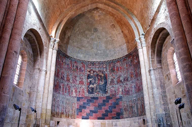 Retablo de la iglesia románica deSan Miguel de Daroca