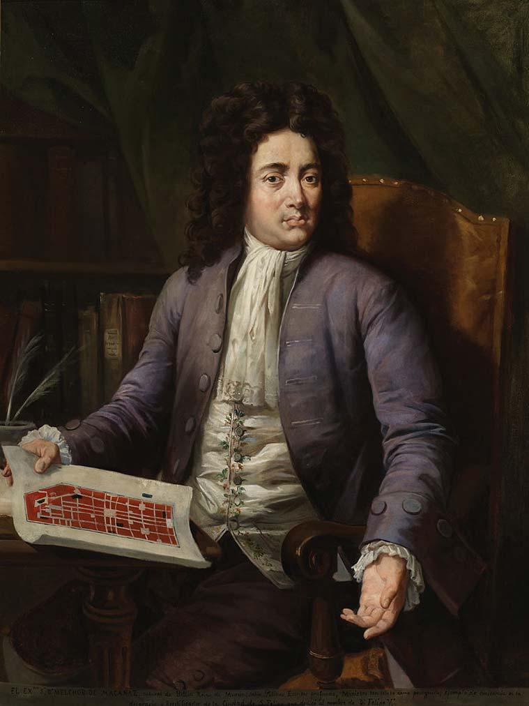 Retrato de Melchor Rafael de Macanaz, se le considera el autor formal de la abolición de los Fueros de Aragón