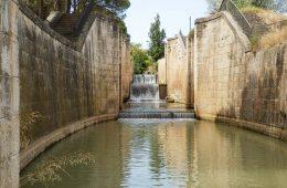 Esclusas de Valdegurriana del Canal Imperial de Aragón en Zaragoza.