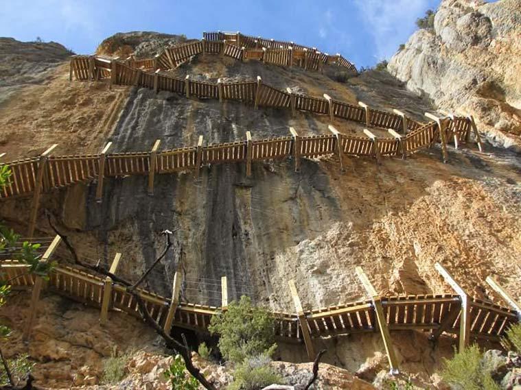 Laruta de las pasarelas de Montfalcó y el Congosto del Mont Rebei