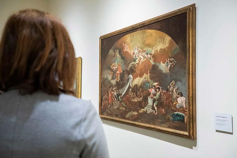 El Museo Goya incorpora a su colección la obra Construccion del Templo del Pilar por los Angeles atribuida a Francisco de Goya