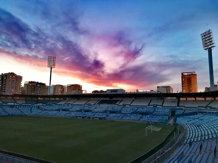 El estadio de La Romareda visita obligada en Zaragoza