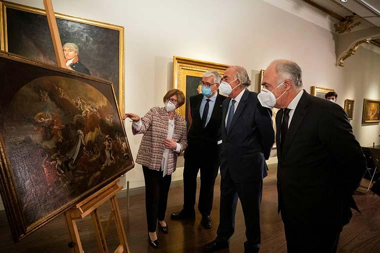 La obra 'Construcción del Templo del Pilar por los Ángeles' se incorpora a la colección del Museo Goya