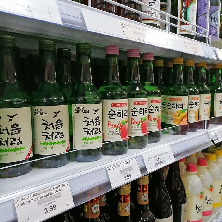 licores de arroz coreanos