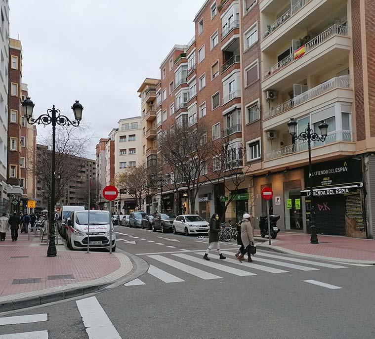 Calle León XIII de Zaragoza