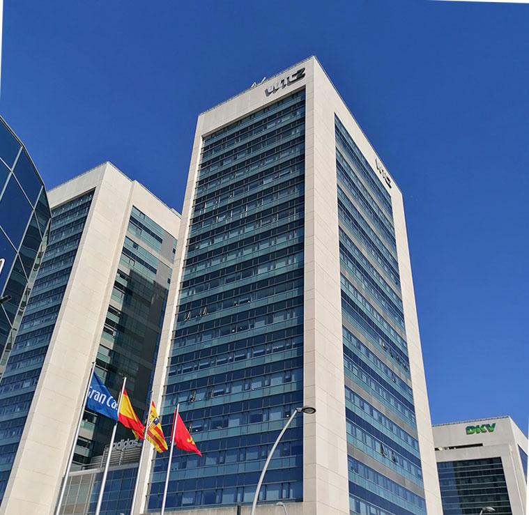 Las dos torres del World Trade Center de Zaragoza