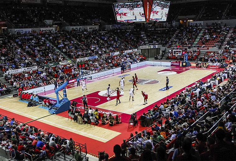 Basket Zaragoza Casademont en el Pabellón Príncipe Felipe