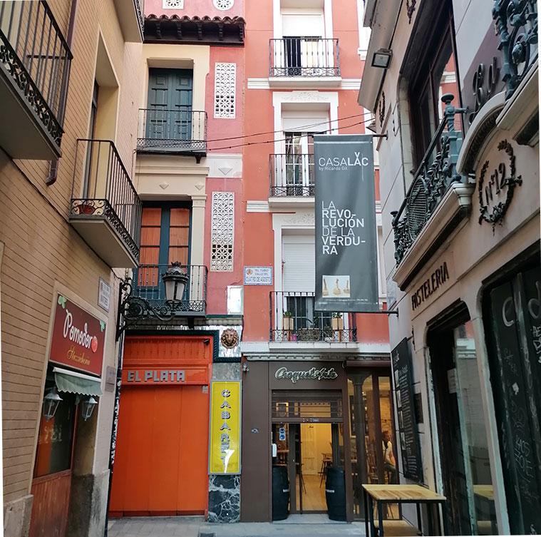Calle Cuatro de Agosto del Tubo de Zaragoza