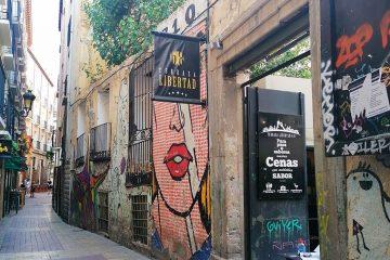 Calle Libertad en el Tubo de Zaragoza