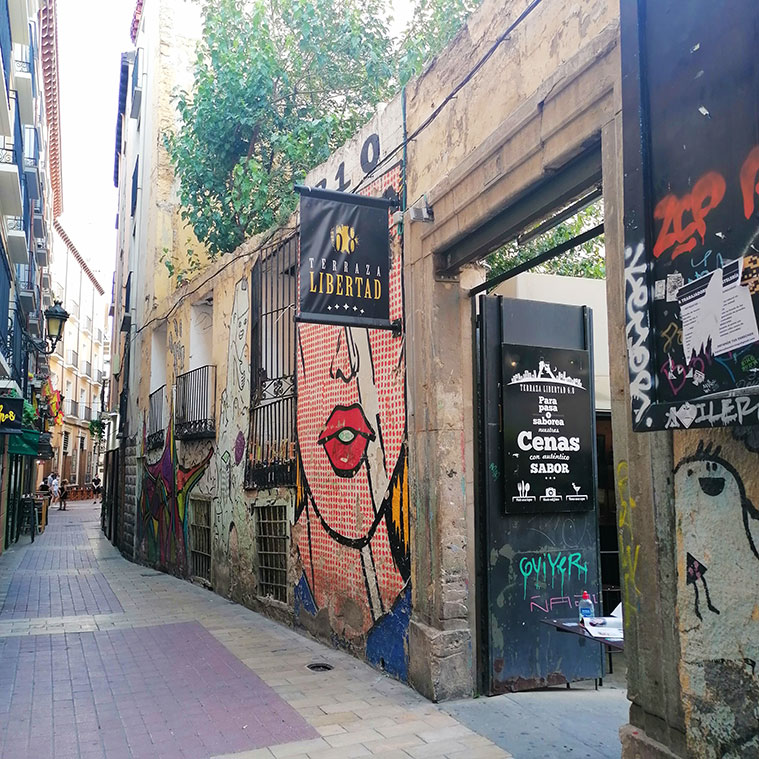 Terraza Libertad 6.8, en la Calle Libertad del Tubo de Zaragoza