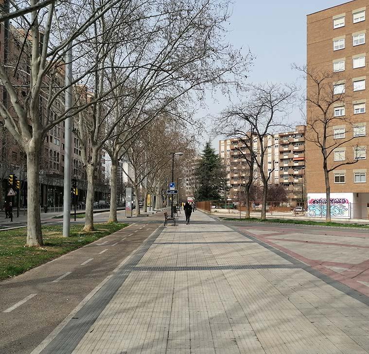 Calle María Zambrano de Zaragoza