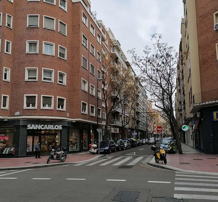 Esquina de las calles Pedro Maria Ric y Leon XIII