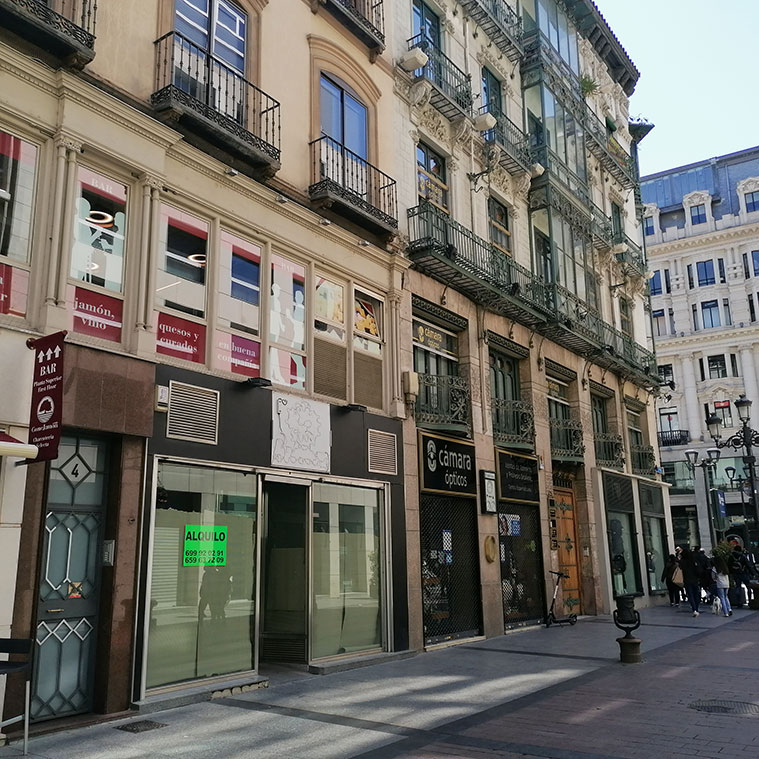 Lugar donde se encontraba la Casa de Goya en la Calle Alfonso I, 7-15