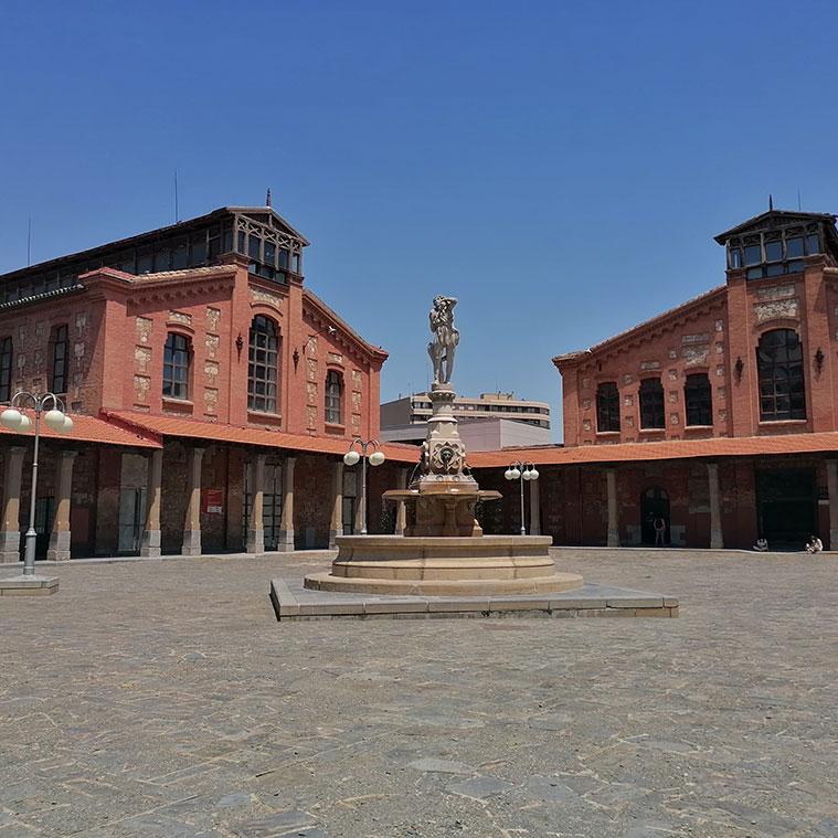 Fuente del Buen Pastor en el Centro Civito Salvador Allende Antiguo Matadero de Zaragoza