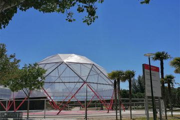 La Cúpula Geodésica en el Parque de la Granja