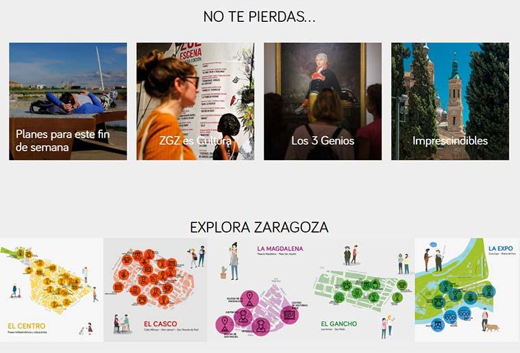 La web de Zaragoza Turismo se renueva
