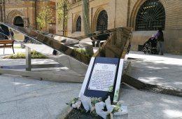 Monumento en recuerdo a las víctimas de la Covid-19 en Zaragoza