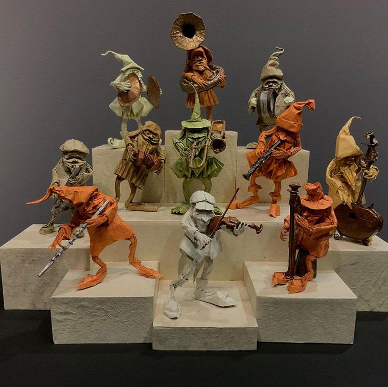 Obras del Maestro Eric Joisel en la Escuela Museo del Origami de Zaragoza