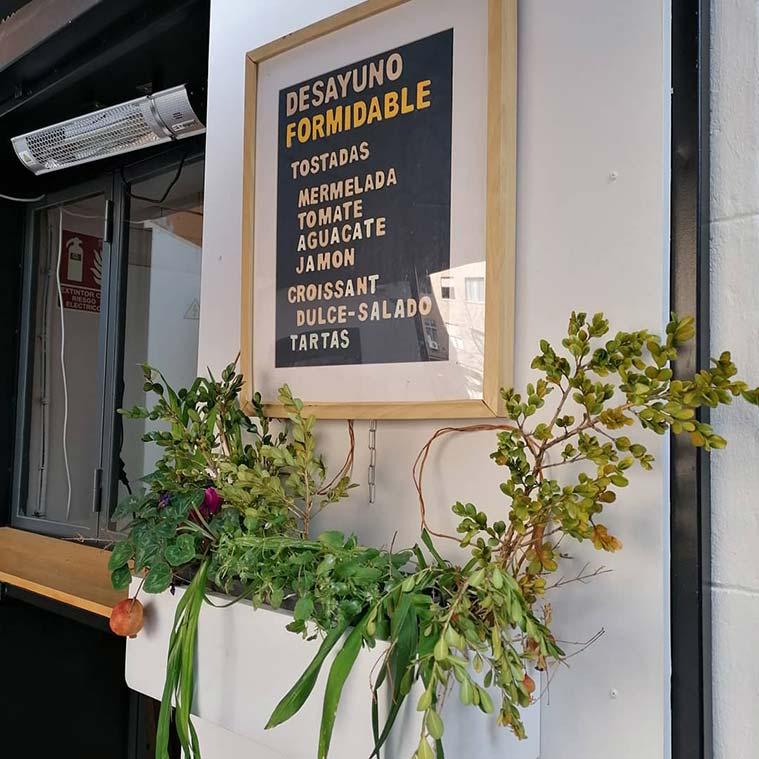 Plantas en la decoracion del Formidable Café Bar