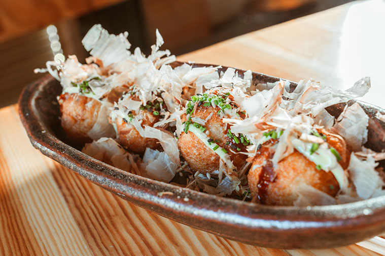 Takoyaki en el restaurante sibuya de zaragoza