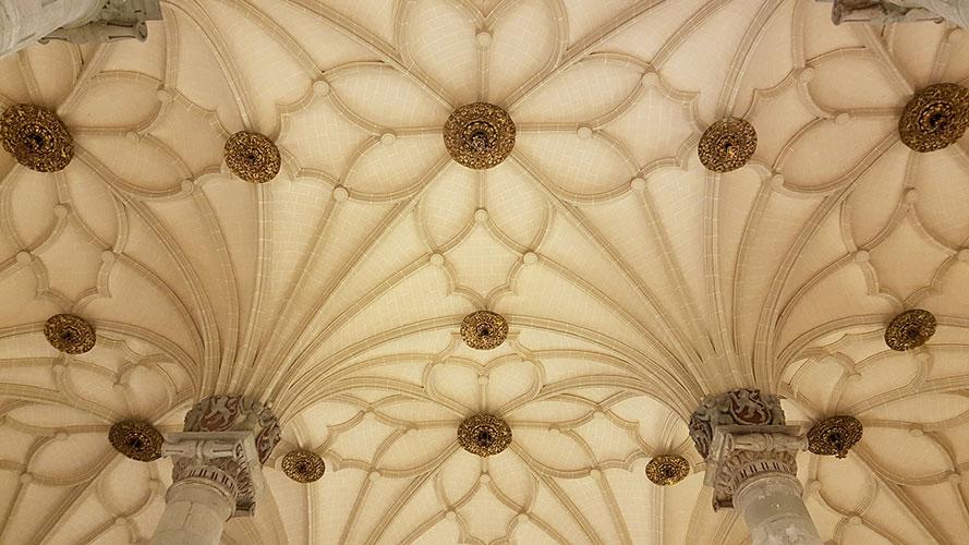 Bóvedas estrelladas de La Lonja