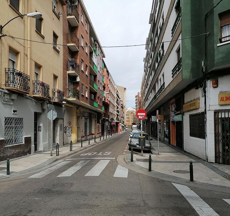 Vista de la Calle San Antonio María Claret con la Avenida Goya al fondo