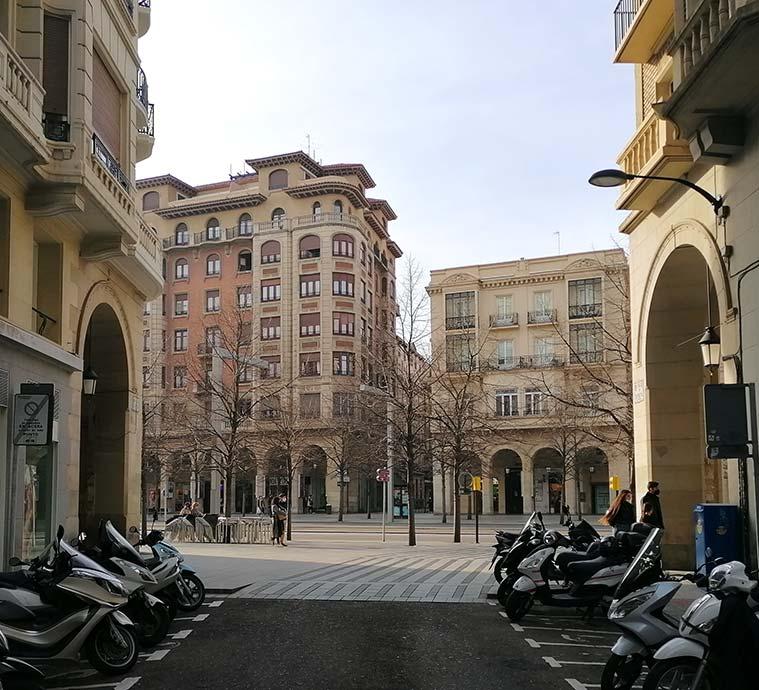 Vista del Paseo Independencia desde la Calle Zurita
