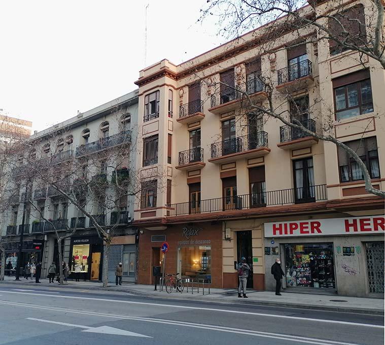 edificios historicos de la calle hernan cortes