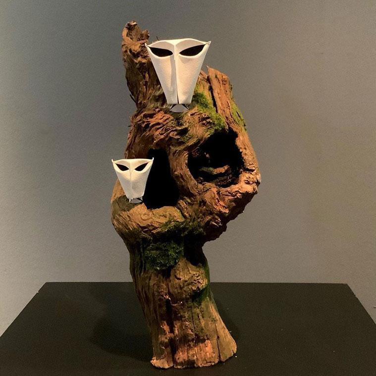 Exposición de Jonathan Rebouillat en la Escuela Museo Origami Zaragoza