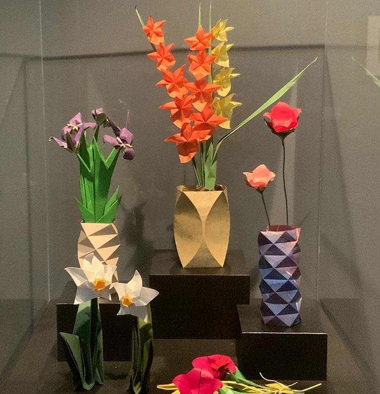 flores de origami en zaragoza