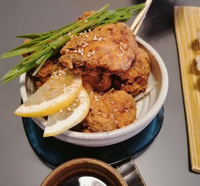 karaage bolitas de pollo con salsa agridulce namban casera