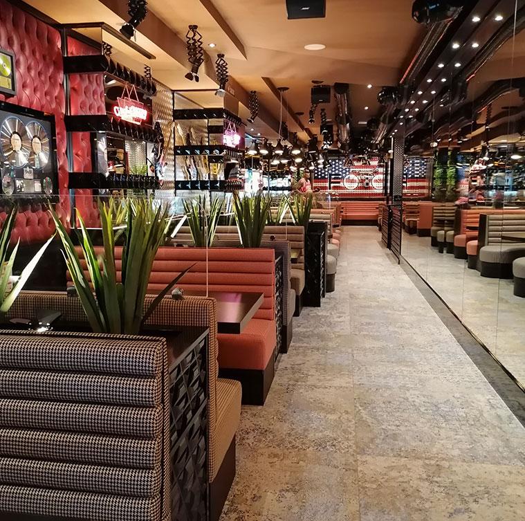 restaurante americano Jack Rabbit en el barrio del actur