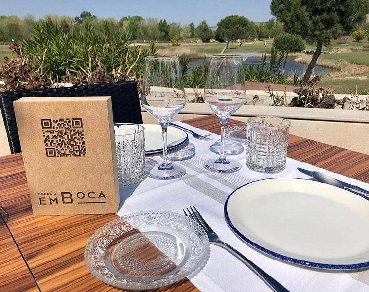 restaurante terraza Espacio Emboca en el Golf Ranillas