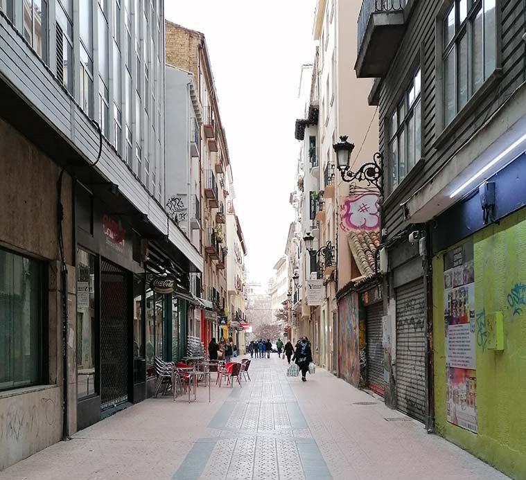 Calle Rufas en Zaragoza