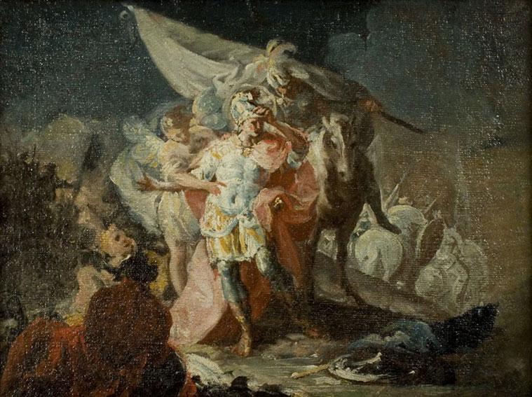 Aníbal cruzando los Alpes es una de las obras de Goya que puede verse en el Museo de Zaragoza
