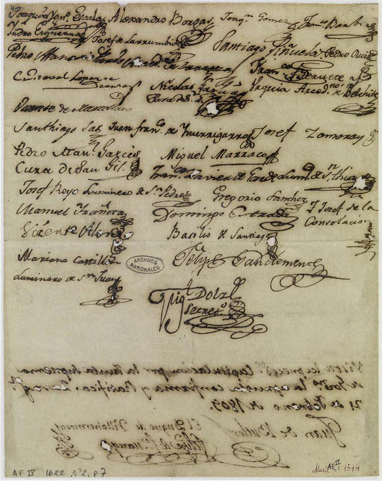 Capitulación, firmada por el mariscal Lannes por los franceses y por Pedro María Ric y los otros miembros de la junta por parte de la ciudad de Zaragoza