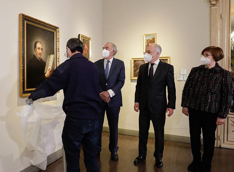 """Presentación del retrato """"San Ignacio de Loyola"""", pintado por Francisco de Goya, que se suma a la colección permanente, procedente de una colección privada, para su exhibición en el museo que lleva su nombre en Zaragoza"""