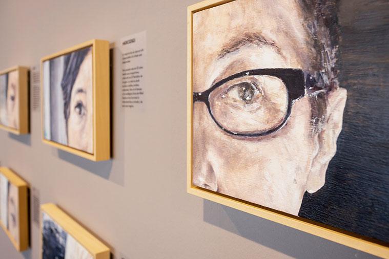 Muestra 'Mucho ojo' de Rosa Balaguer, en el Espacio Lienzo Abierto del Centro de Historias