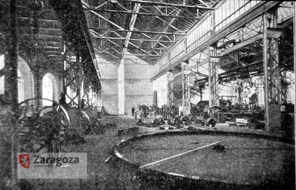 Nave de montaje de la industria Maquinista y Fundiciones del Ebro (1925)