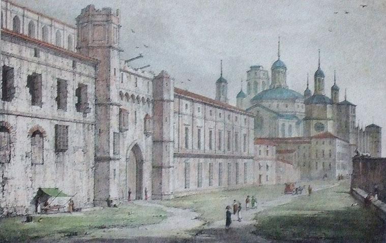 La Puerta del Ángel de Zaragoza, en un grabado de1824